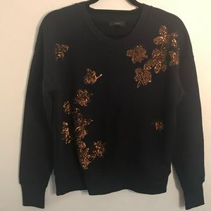J. Crew sequin embroidered sweatshirt